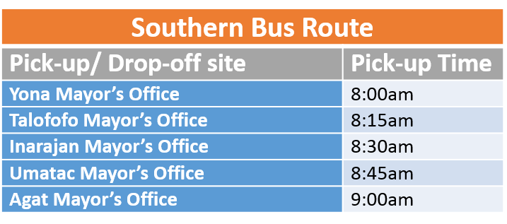 southern bus route